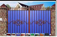 Забор из профнастила. Монтаж, продажа материалов, фото 1