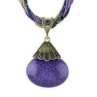 Колье ожерелье фиолетовой камень, фото 1