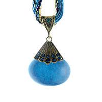 Колье ожерелье синий камень, фото 1