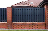 Забор из штакетника металлического. Монтаж, материалы, фото 1