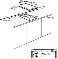 Электрическая варочная панель ELECTROLUX EHF 3920 BOK