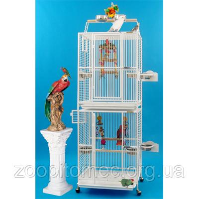 Вольер клетка для попугаев, птиц двойная