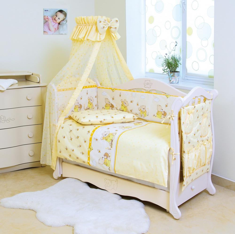 Детский постельный комплект Comfort «Медуны» (Желтый, С-010, 8 элементов), Twins
