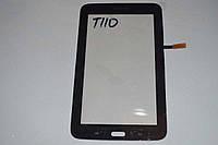 Оригинальный тачскрин сенсор (сенсорное стекло) Samsung Galaxy Tab 3 Lite 7.0 T110 T113 T115 черный самоклейка