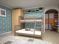 Кровать детская Комби 1 80х190 (Дуб)