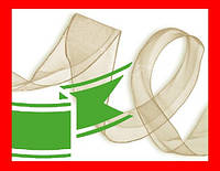 Лента капроновая органза, 13 мм, цвет 006 зеленый