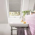 Мансардное окно GLP 0073B, ручка снизу, белый ПВХ, фото 3