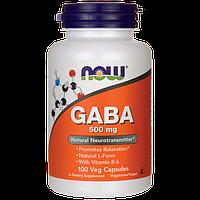 ГАБА + витамин Б-6 (GABA + B-6), 500 мг + 2 мг, 100 капсул