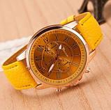 Часы женские желтые наручные, фото 2