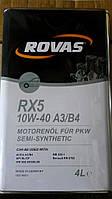 Полусинтетическое моторное масло Rovas RX5 10w40 4L