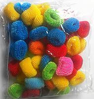 Резинки для волос цветные, 50 шт., (30 мм)