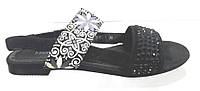 Босоножки женские Masi Maluo черные замшевые без каблука, женские  босоножки