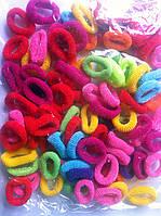 Резинки для волос цветные, 100 шт., (20 мм)