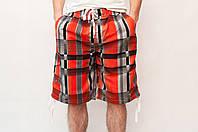 Мужские летние шорты оранжевого цвета (удлиненные)