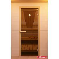 Двери для сауны (бронза) 70х200 см