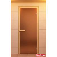 Двери для бани матовые 80х200 см