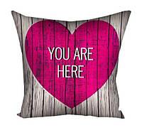 """Подушка """"Ты в моем сердце """" (мини)"""
