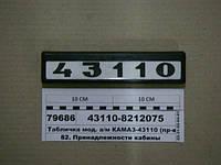 Табличка мод. а/м КАМАЗ-43110 (ТМ S.I.L.A., Украина), 43110-8212075