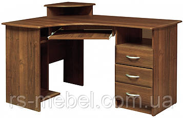 Стол письменный угловой  МДФ (Мебель-Сервис)