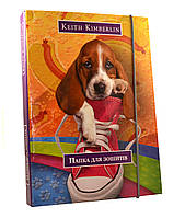 "Папка для тетрадий В5 на резинке ""Кошки&Собаки"" картон Tiki"
