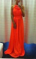 Платье шифон бант макси