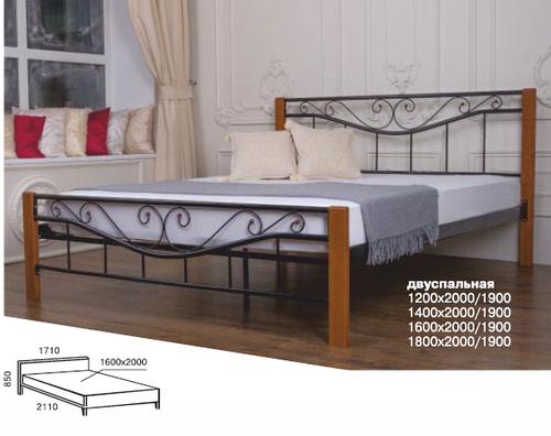 Ліжко в спальню коване Емілі Melbi