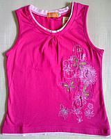 """Футболка розовая детская с вышивкой - """"бабочки"""", р. 110, 150 см"""