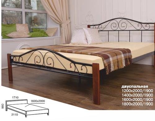 Ліжко в спальню коване Еліс Люкс Вуд Melbi