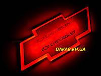 Подсветка эмблемы Chevrolet красная Шевроле, фото 1