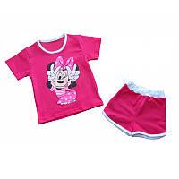 Костюм для девочки Минни, футболка и шорты, стрейч-хлопок, р.р.86-116 см