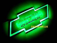 Подсветка эмблемы Chevrolet зелёная Шевроле