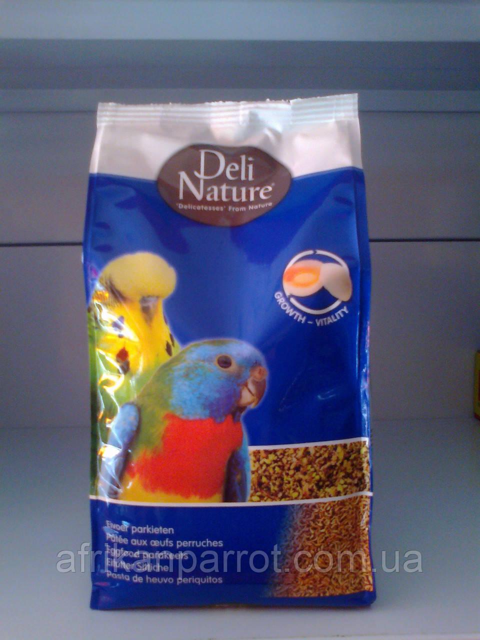 Мягкий яичный корм для мелкого и среднего попугая. 1кг DELI NATURE