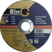 Абразивный отрезной круг по металлу Ring 125*1.2*22.2