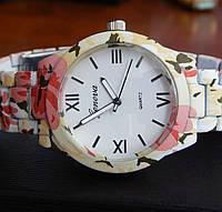 Часы Geneva (pink flowers)