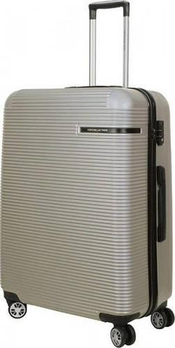 Большой чемодан на 4-х колесах 102 л Vip Collection Maldivas 28 Silver MDS.28.silver, серебро