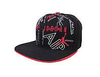 Черная кепка Jordan Air с красным логотипом