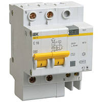 Диф. автомат IEK АД 12 тип АС (MAD10-2-016-C-100)