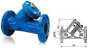 Фильтр для воды фланцевый осадочный Ду250мм чугун
