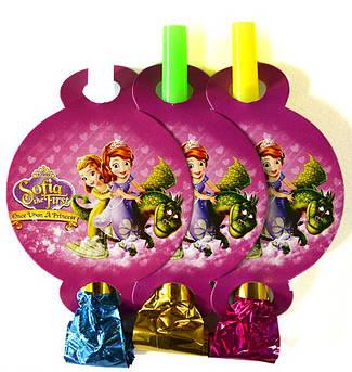 Язычок - дудка Принцесса София 6 штук