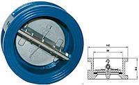 Клапан обратный межфланцевый 2-створ. 80мм РУ 16