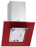 Pyramida HES 30 D-600 RED (600 мм.) наклонная кухонная вытяжка, красное стекло / нержавеющая сталь , фото 2