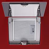 Pyramida HES 30 D-600 RED (600 мм.) наклонная кухонная вытяжка, красное стекло / нержавеющая сталь , фото 4
