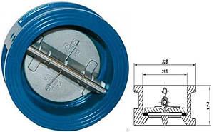 Клапан обратный межфланцевый 2-створ.250мм РУ 16