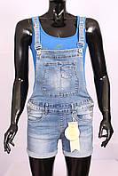Женский джинсовый комбинезон с шортами 2в1