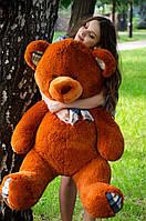 Мишка Барни 130 см.Мягкая игрушка.игрушка медведь.мягкие игрушки украина.Плюшевый мишка Коричневый