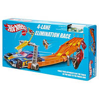 Трек хот вилс Hot Wheels Retro 4-Lane Elimination Race Trackse