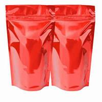 Пакет дой-пак красный с застежкой зип и отрывом 130мм х 200мм