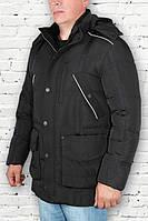 Пуховик мужской удлиненный черный 46р