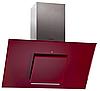 Pyramida HES 30 D-600 RED (900 мм.) наклонная кухонная вытяжка, красное стекло / нержавеющая сталь