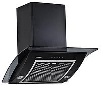 Pyramida RA 60 black/s (600 мм.) наклонная кухонная вытяжка черный корпус / черное стекло, фото 1